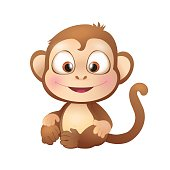 Cute Brown Monkey Smiling
