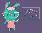 Cute Bunny Kindergarten Teacher