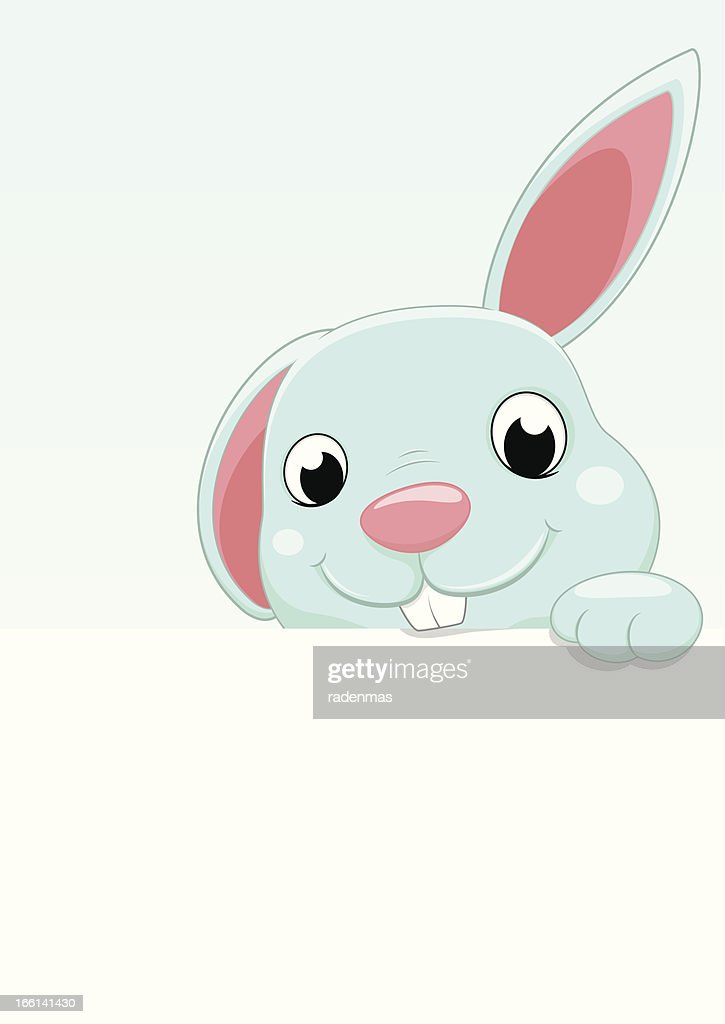Cute Bunny With Blank sign