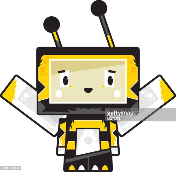 Cute Cartoon Block Bee Character