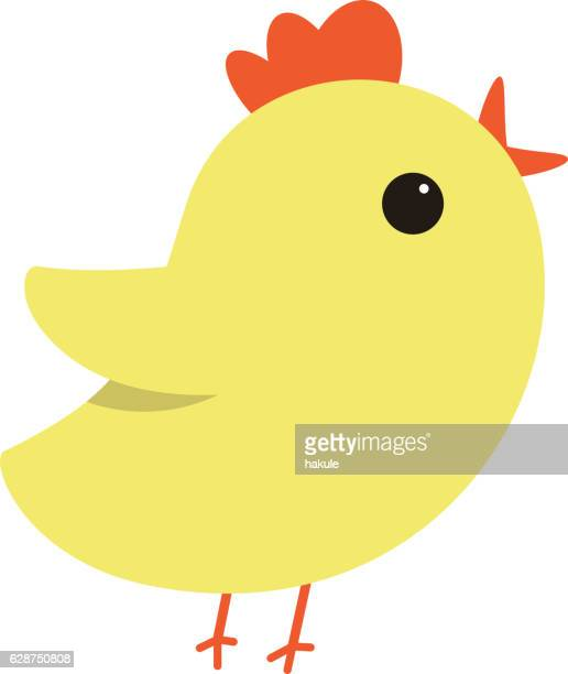 Cute cartoon chicken/bird , vector illustration.