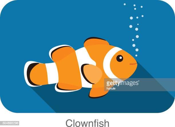 cute cartoon clownfish, vector - anemonefish stock illustrations, clip art, cartoons, & icons