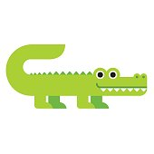 Cute cartoon crocodile