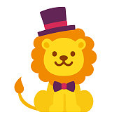 Cute cartoon dandy lion