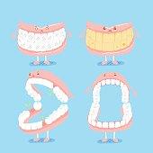 cute cartoon denture