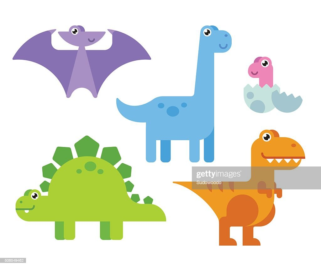 Cute Cartoon Dinosaurs