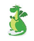 Cute cartoon dragon