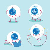 cute cartoon eyeball