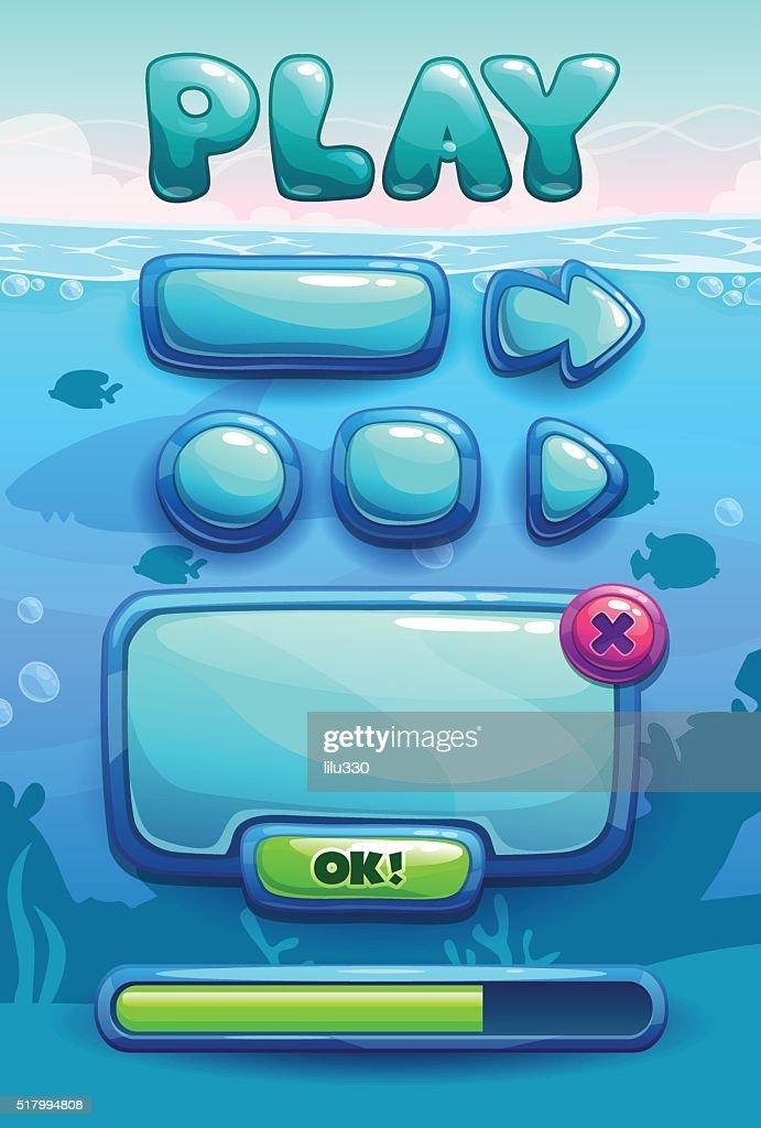 Cute cartoon game assets set