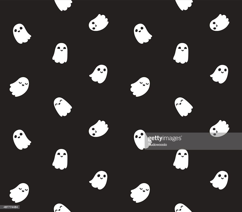 Cute cartoon ghost pattern