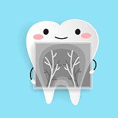 cute cartoon health tooth
