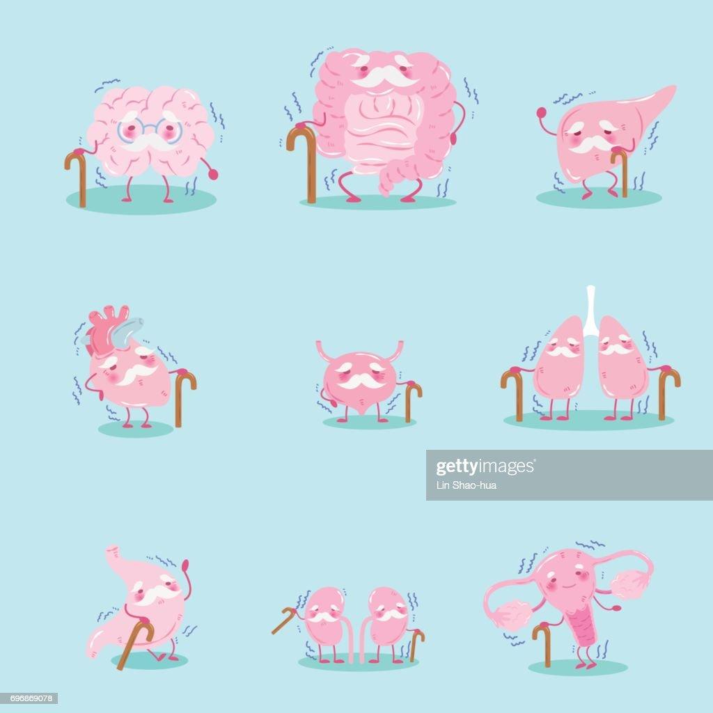 cute cartoon intestine
