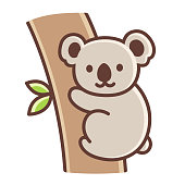 Cute cartoon koala