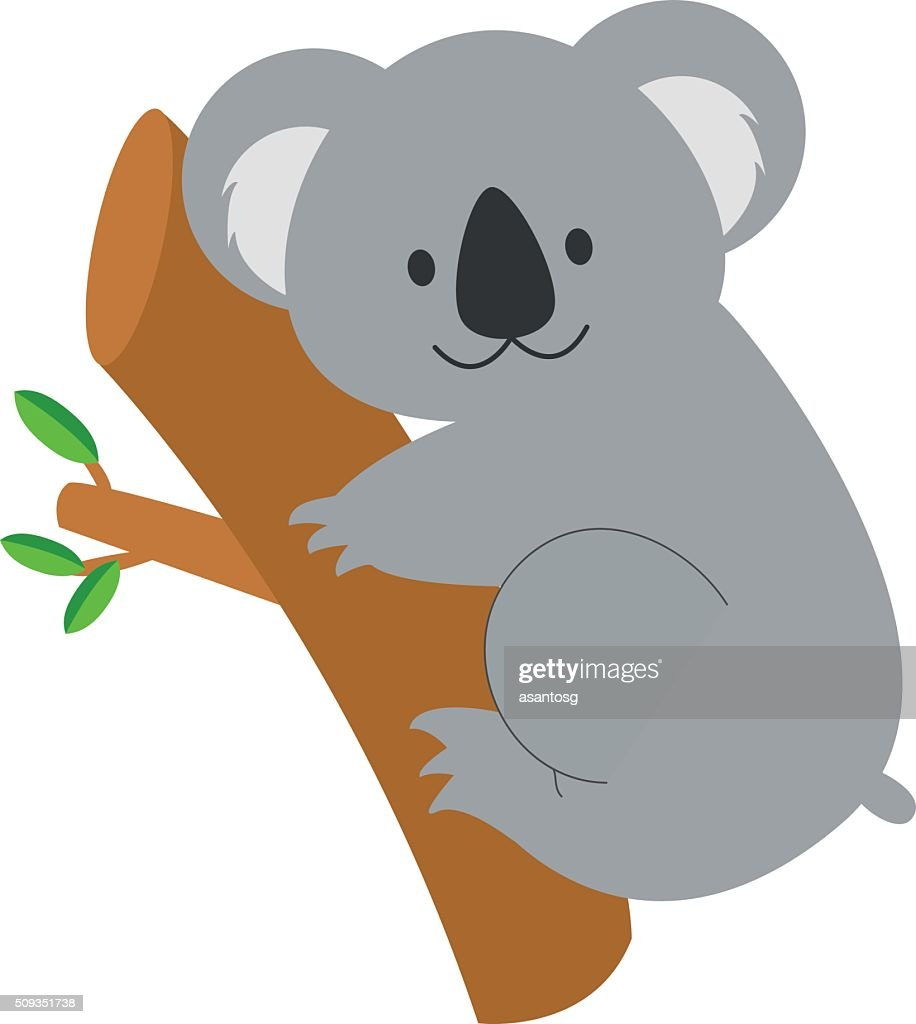 Cute cartoon koala vector illustration