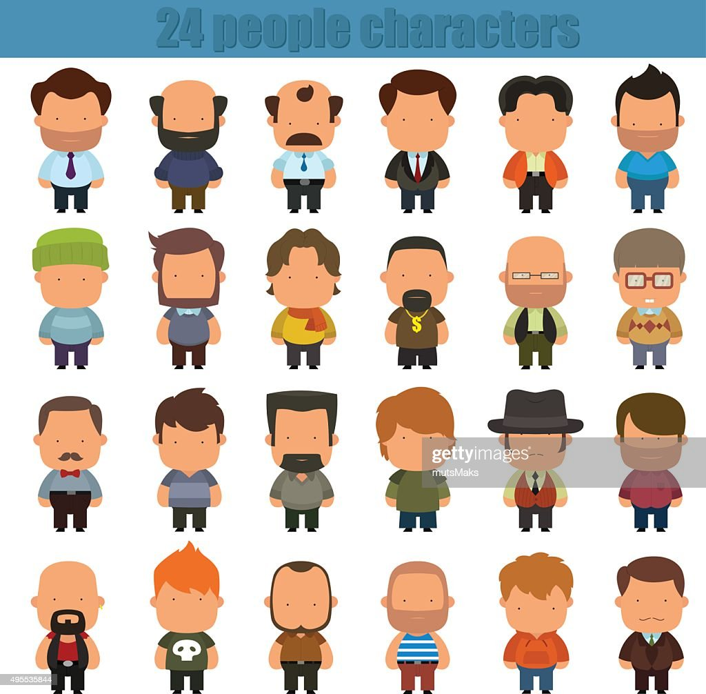 cute cartoon people characters