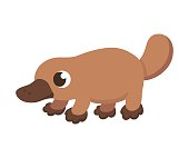 Cute cartoon platypus