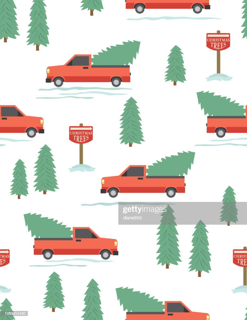 Cute Cartoon Truck Driving With A Christmas Tree Seamless Pattern High Res Vector Graphic Getty Images Lot's of fun learning cartoon for children with street vehicles and constructions trucks. cute cartoon truck driving with a christmas tree seamless pattern high res vector graphic getty images