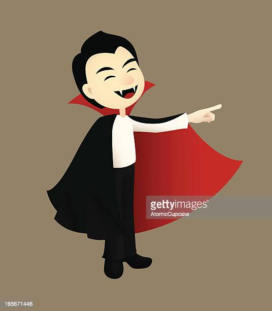 cute cartoon vampire pointing - count dracula stock illustrations, clip art, cartoons, & icons