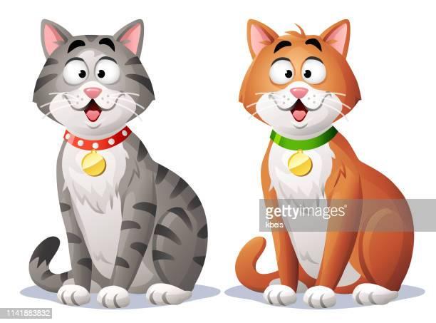 cute cat - cheerful stock illustrations