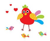 cute chicken happy mother day greeting card