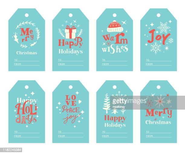 かわいいクリスマスギフトタグ - メッセージカード点のイラスト素材/クリップアート素材/マンガ素材/アイコン素材