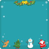 Cute Christmas symbol empty board vector