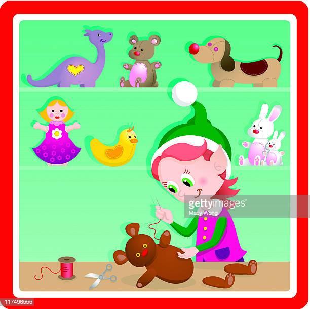 Süße Weihnachten Spielzeug Fabrik-Puppe Kaffeemaschine elf