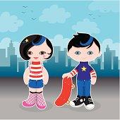 Cute city kids