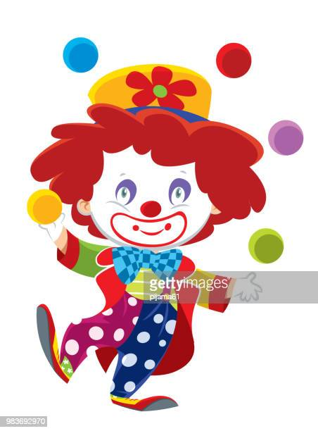 cute clown - actor stock illustrations