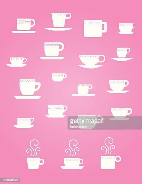 Cute Coffee and Tea cups