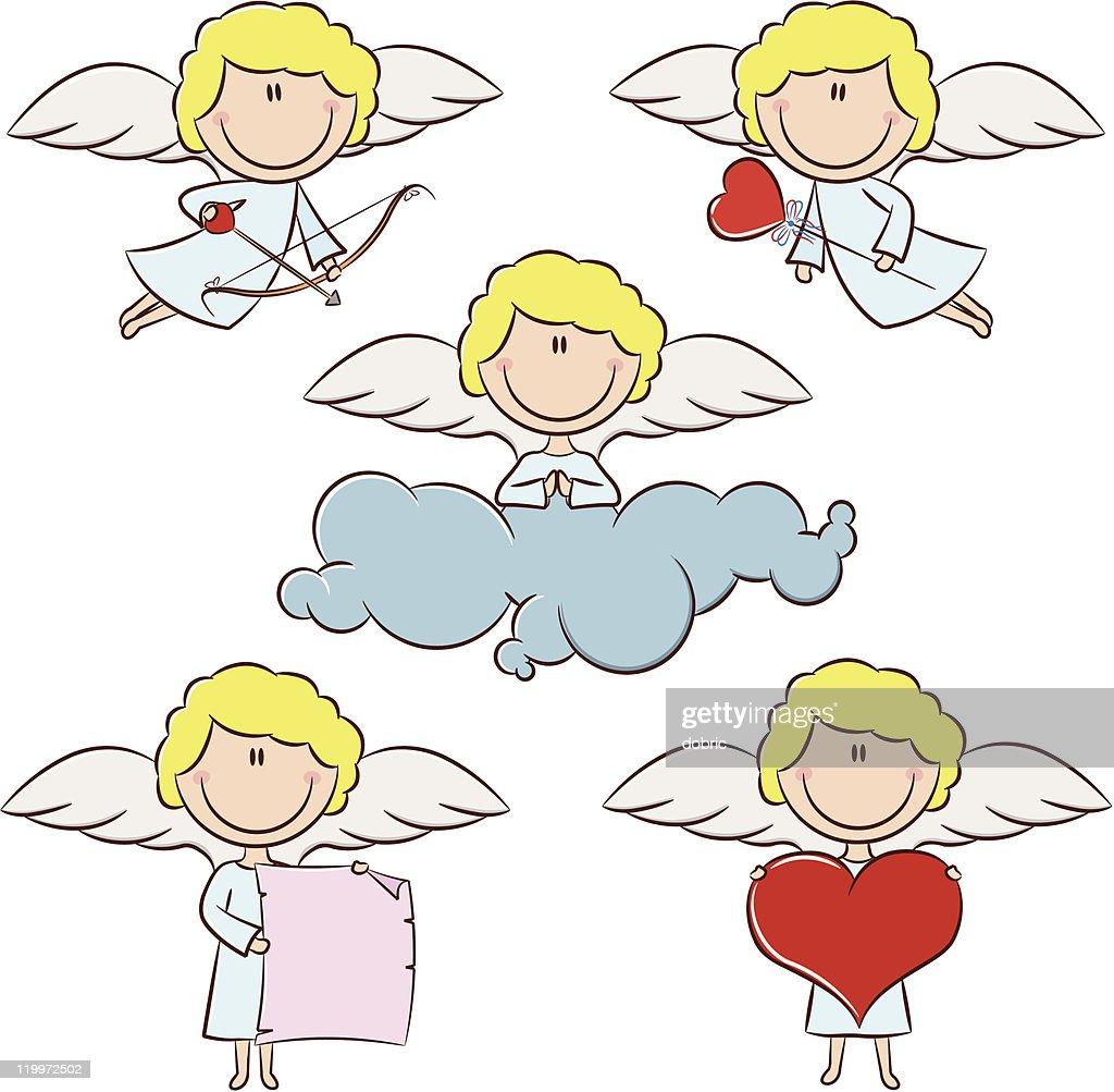 Cute color cupid set
