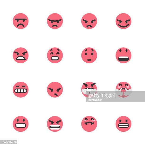 cute colorful emoticons set - infamous stock illustrations, clip art, cartoons, & icons