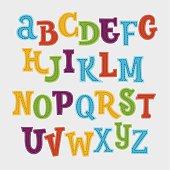 Cute colorful vector English alphabet