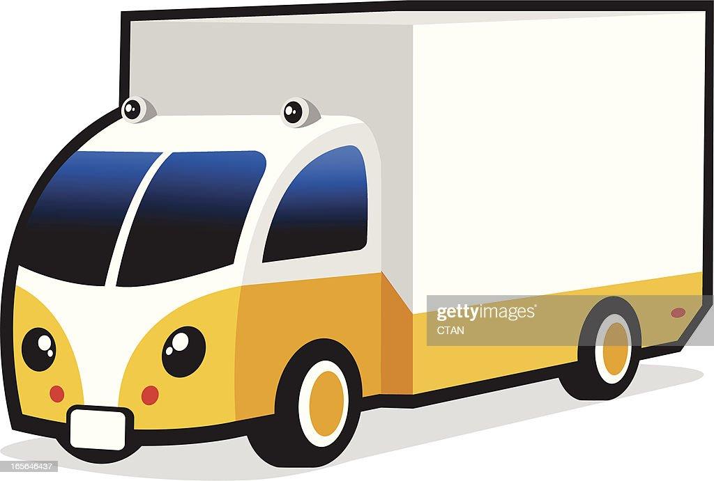 cute commercial van