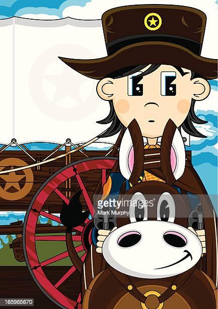 Cute Cowboy Sheriff on Horse