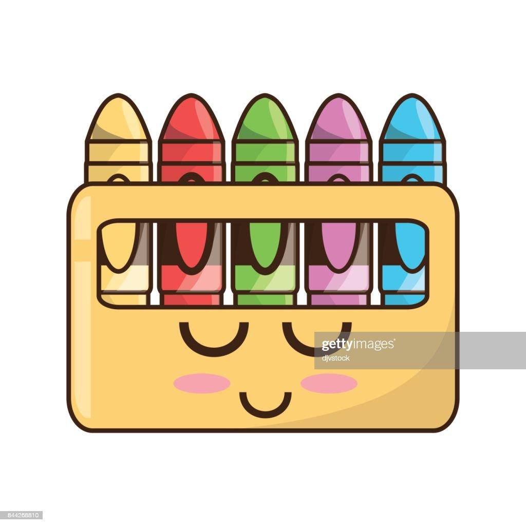 Cute crayons cartoon