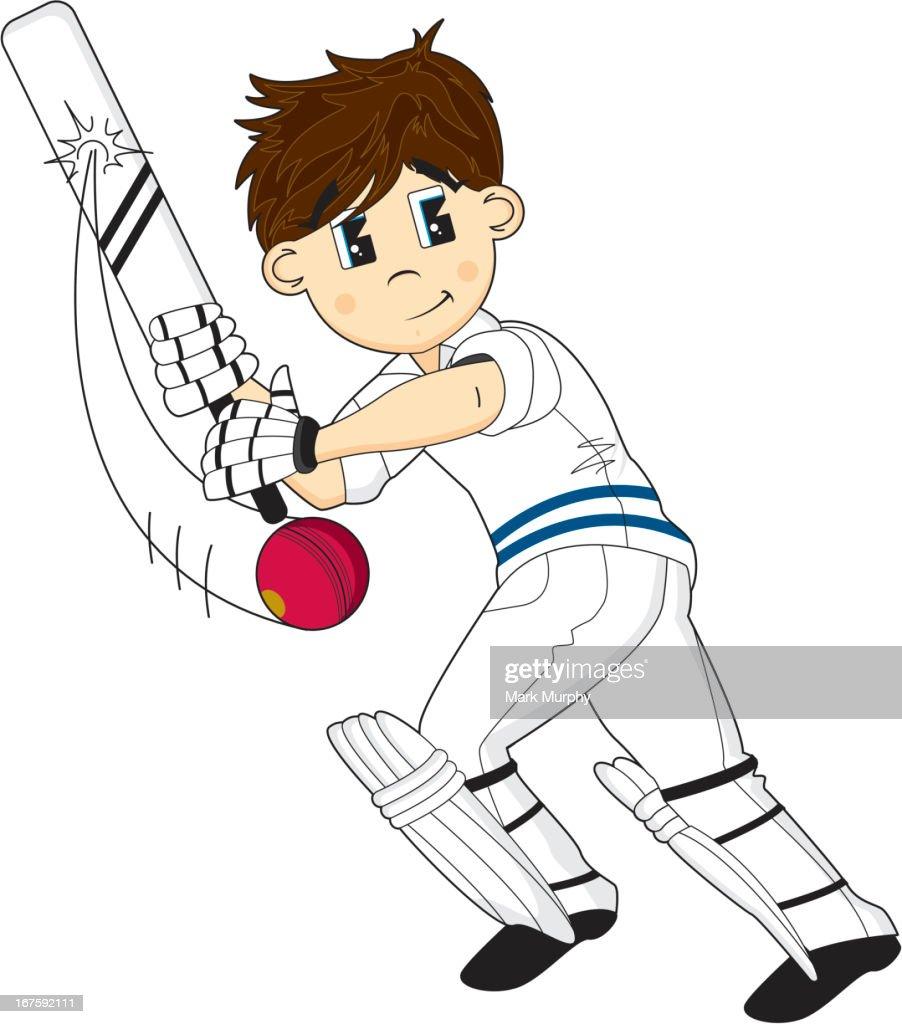 Cute Cricket Batsman