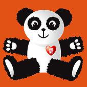 Cute cuddly Panda Bear
