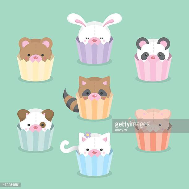 Cute cupcake critters animals