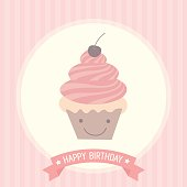 cute cupcakes birthday card