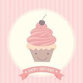 cute cupcakes birthday card