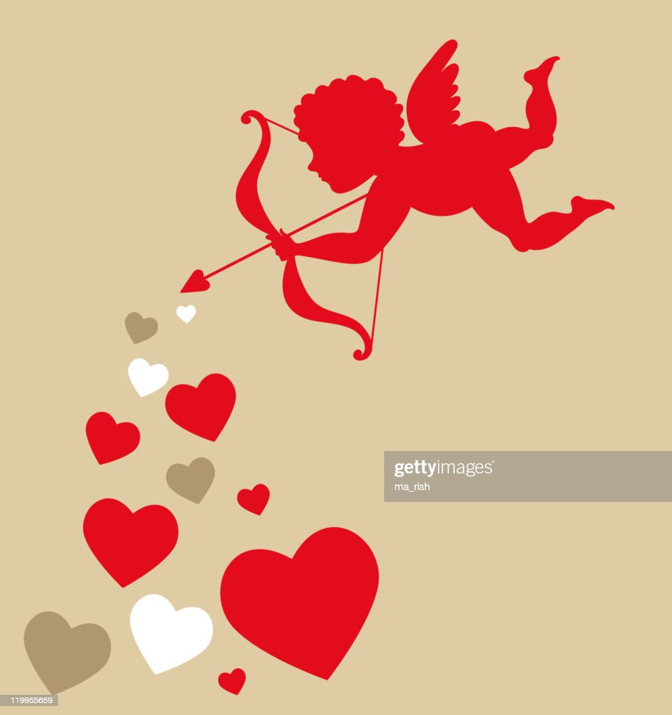 cute cupid card for Valentines day