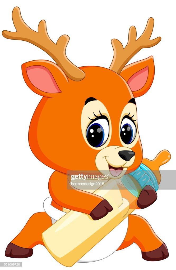 cute deer cartoon