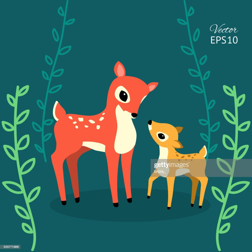 cute deers in the forest