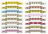 cute different cartoon style ribbons