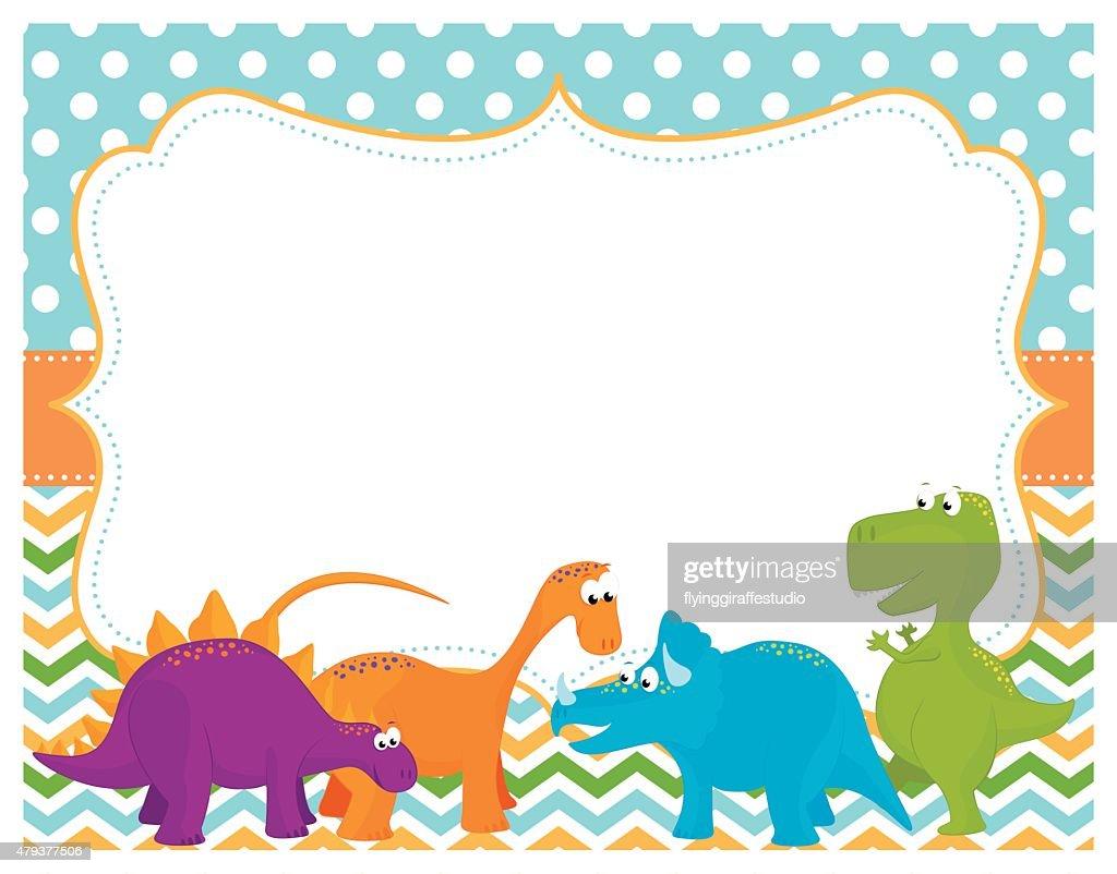 Cute Dinosaur Card Vector Art Getty Images