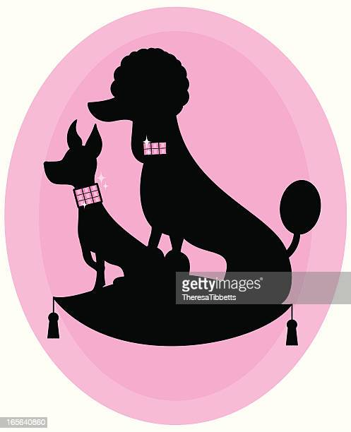 cute doggies - pampered pets stock illustrations