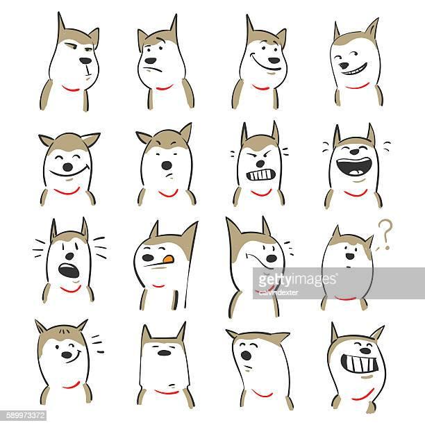 illustrations, cliparts, dessins animés et icônes de mignon les chiens  - chien humour