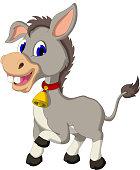 cute donkey cartoon posing