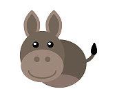 cute donkey head illustration